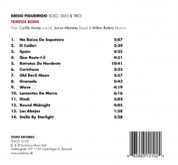 Diego Figueiredo - Tempos Bons - Back Cover