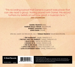 Daniel Franck Quartet - The Hangout - Back Cover