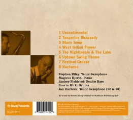 Snorre Kirk Quartet with Stephen Riley - TANGERINE RHAPSODY - Back Cover